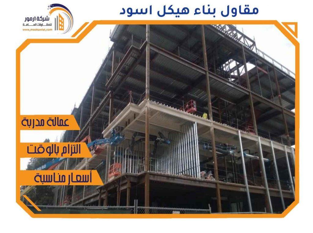 مقاول بناء هيكل اسود
